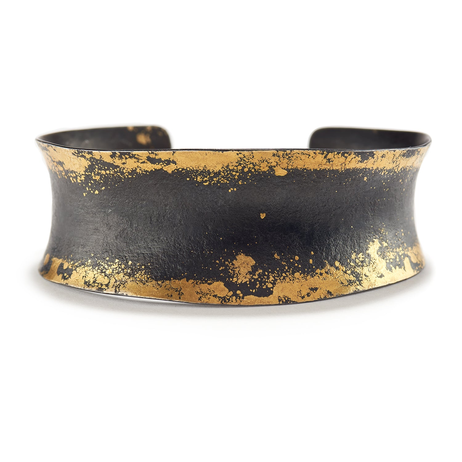 Iron and Gold Cuff Bracelet