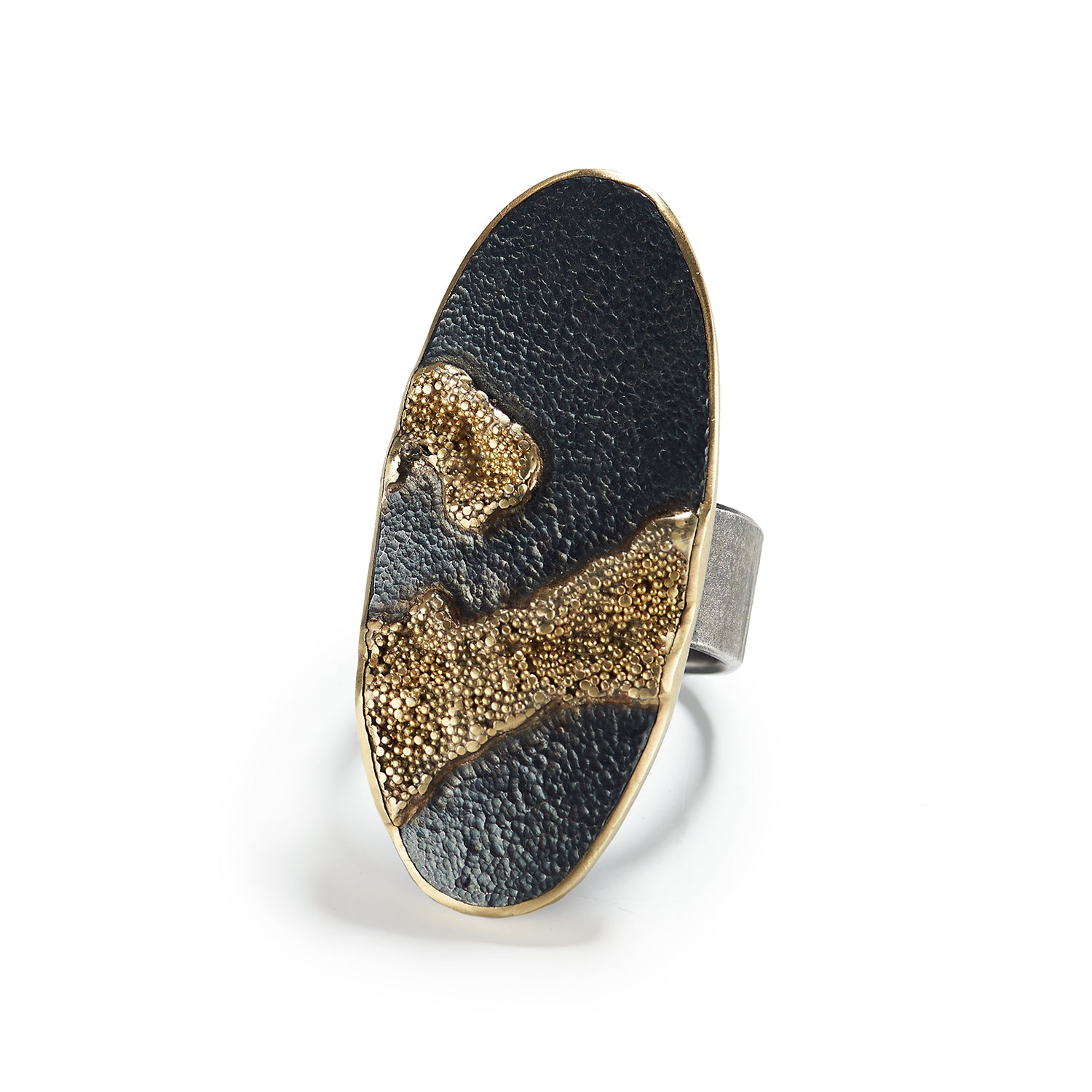 Silver and Gold Granulation Ring