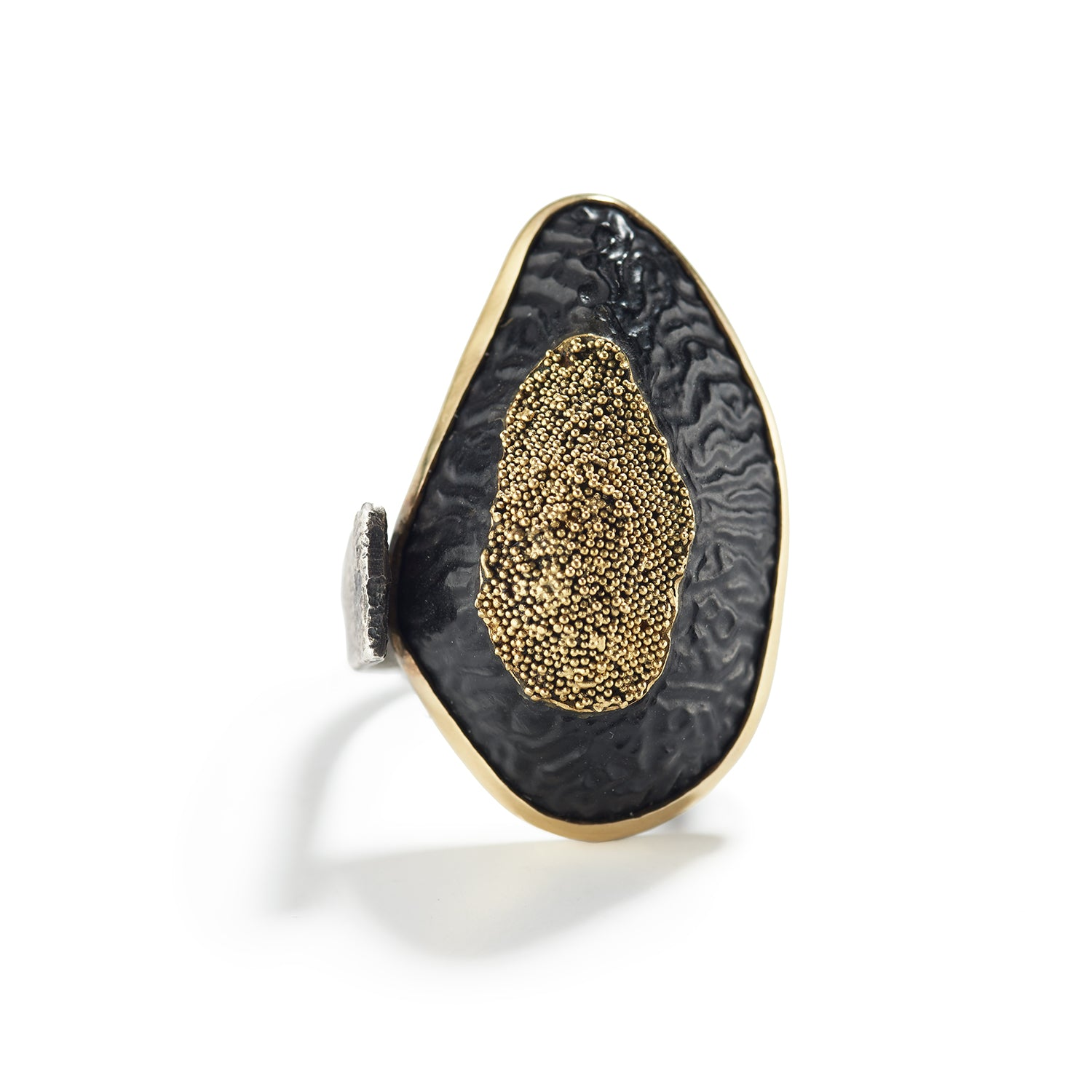 Borneo Beach Pebble and Gold Ring