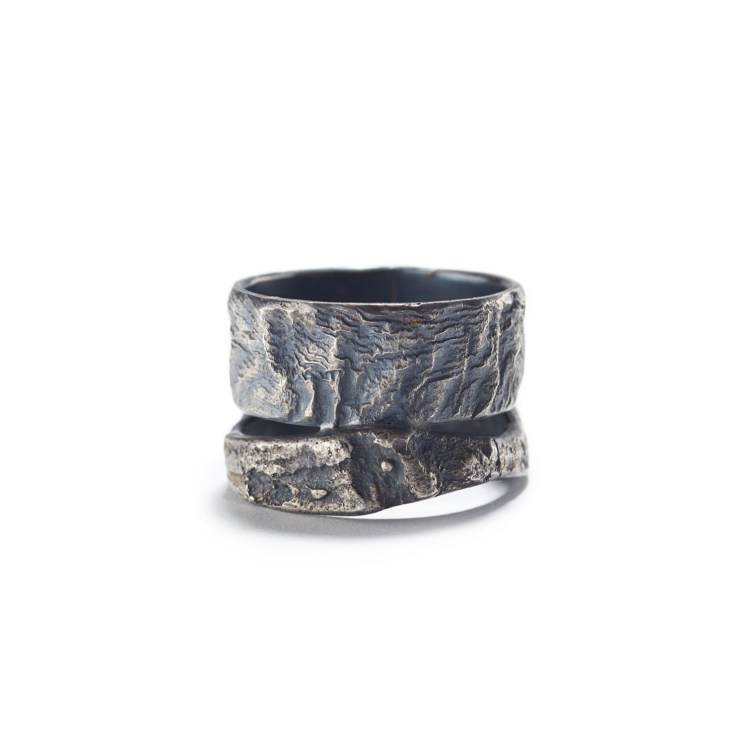 Textured 'Wood Bark' Band