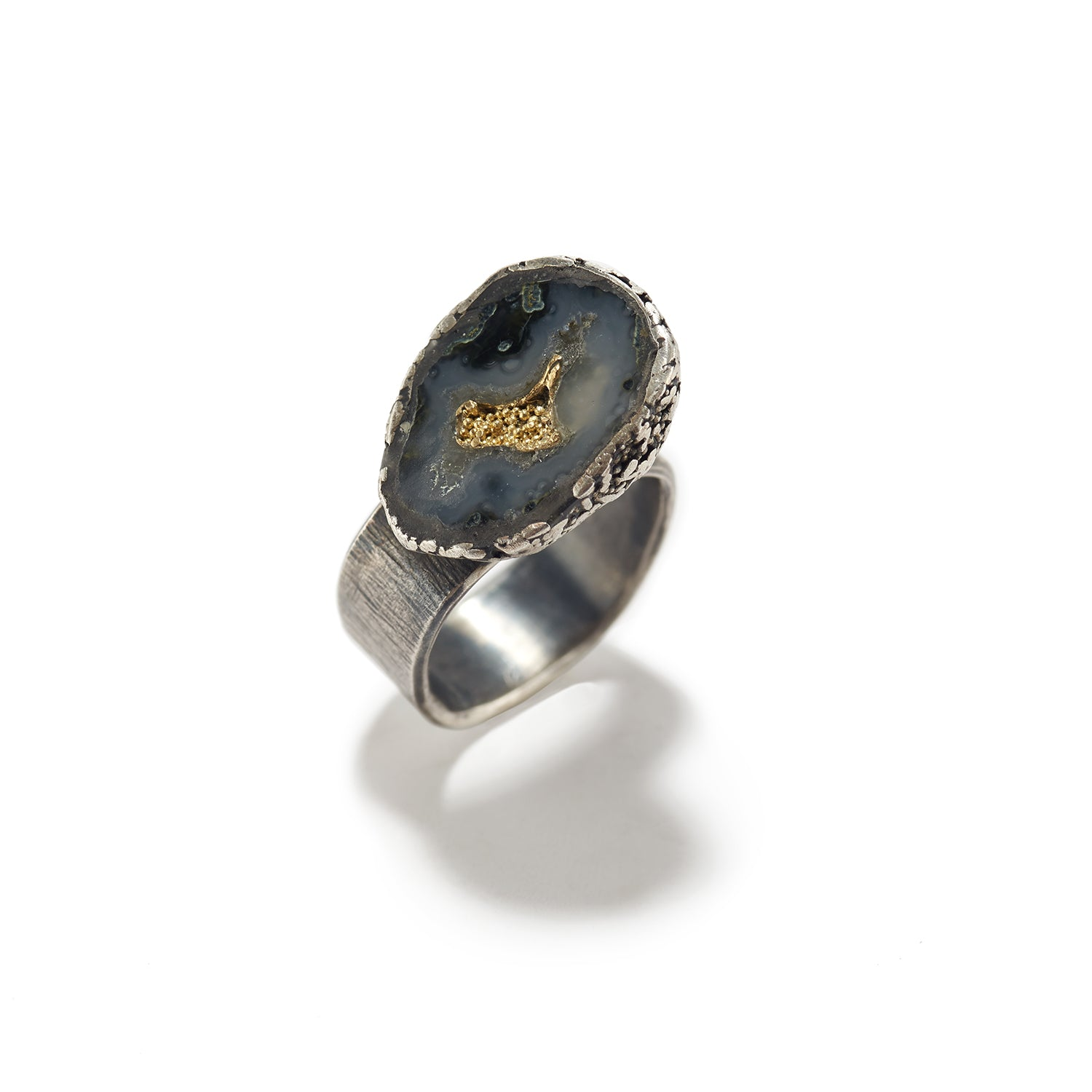 Small Geode Ring