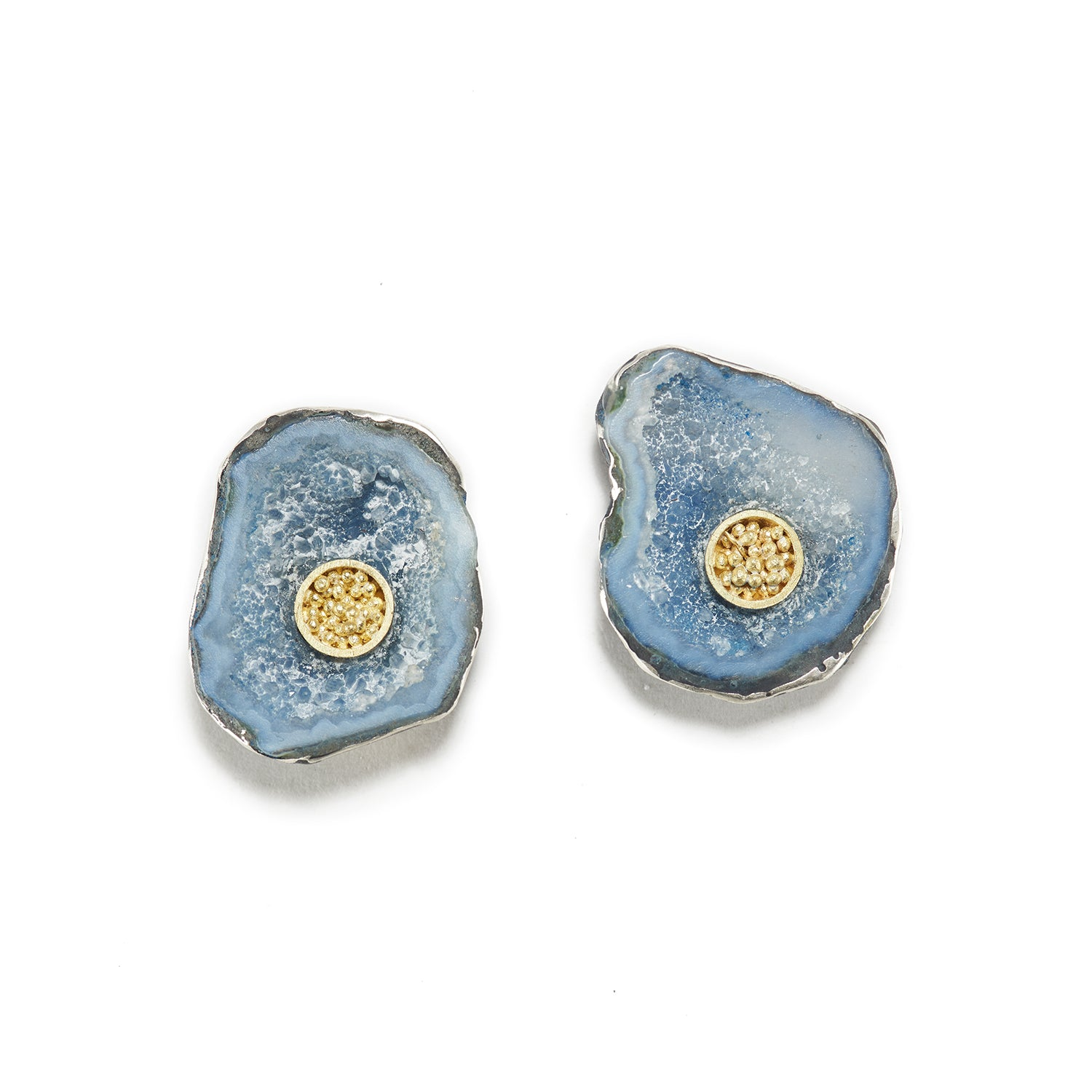 Maritime Geode Earrings