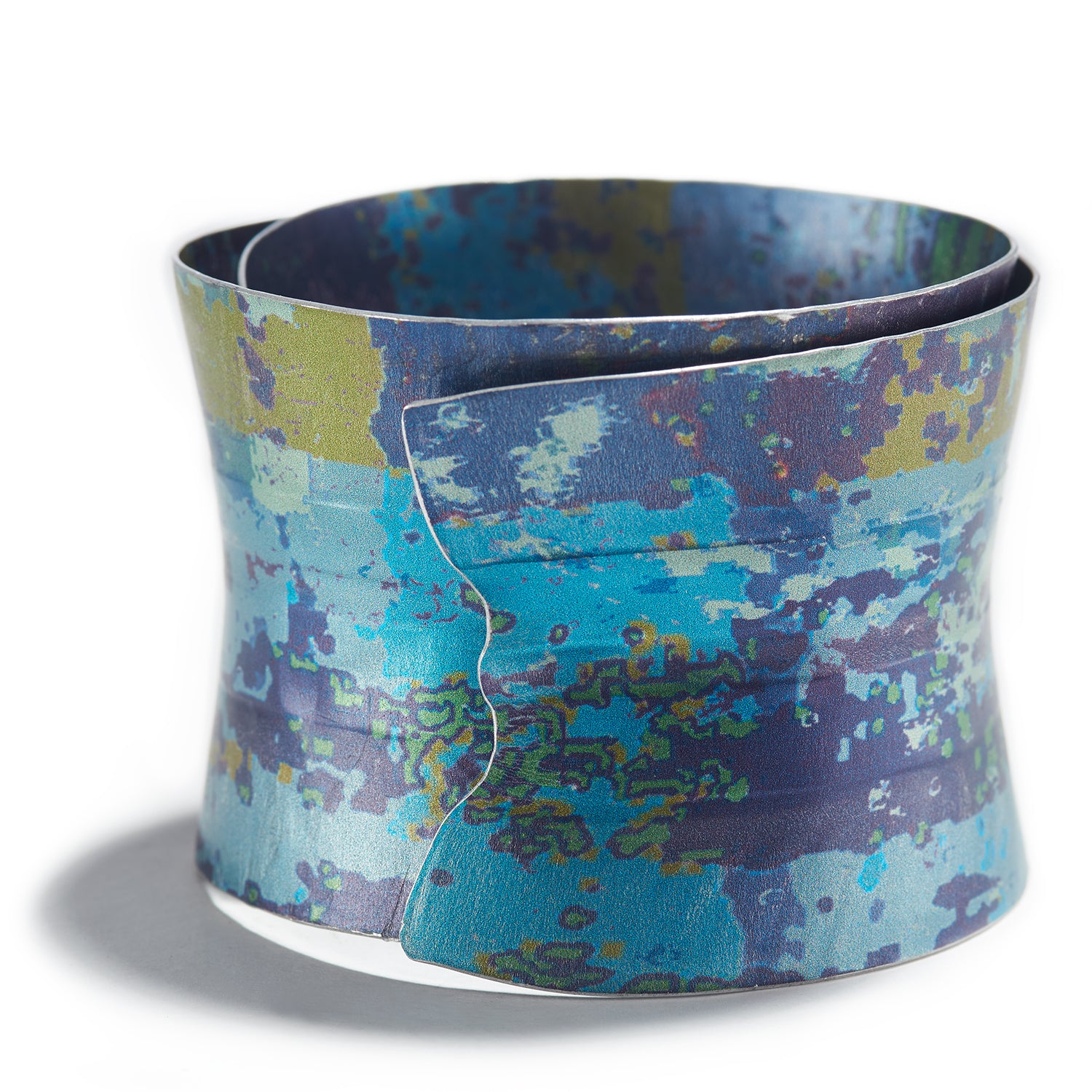 Fluted Bangle in Blue