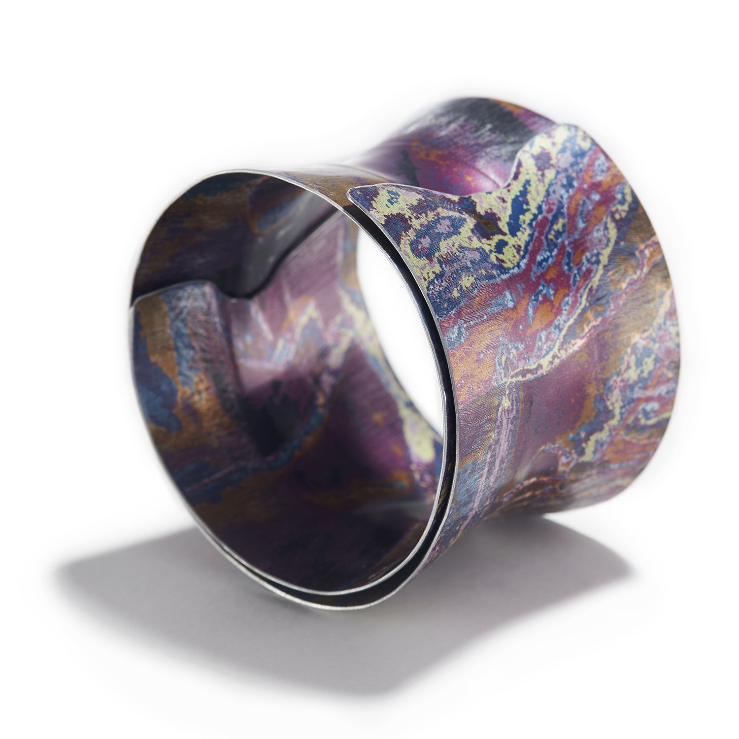 Fluted Spiral Bangle in Purple