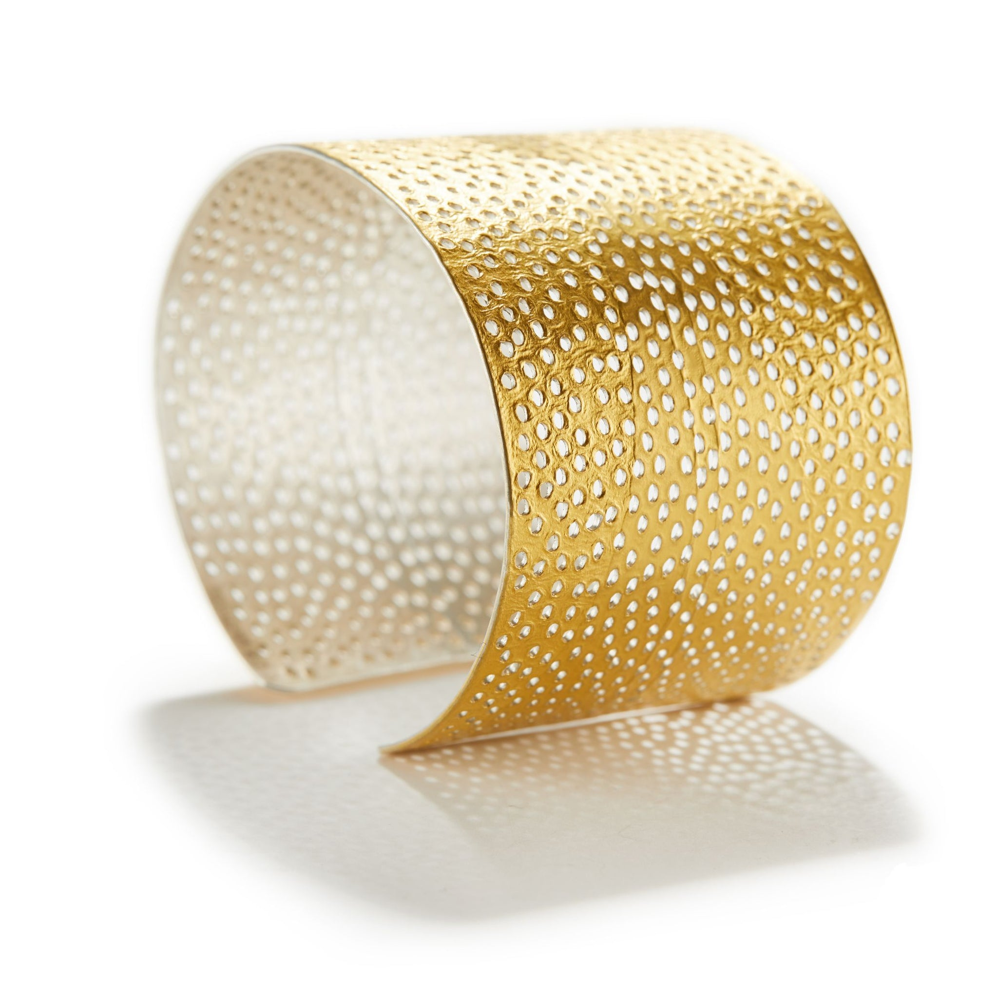 Oval Bangle in Gold & Silver
