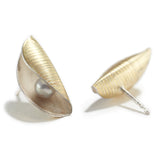 Small Pod Studs with Pearl