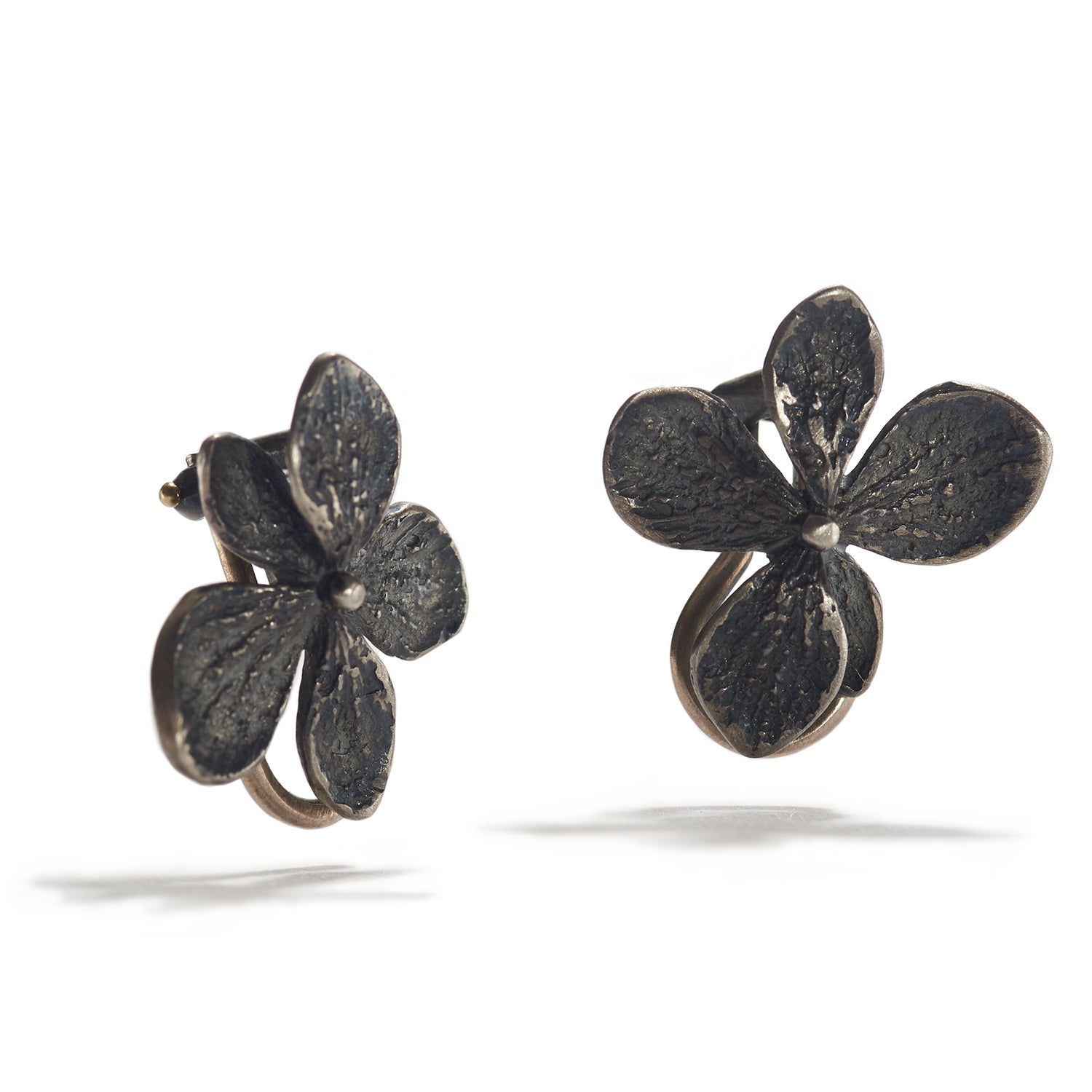 Hydrangea Clip Earrings