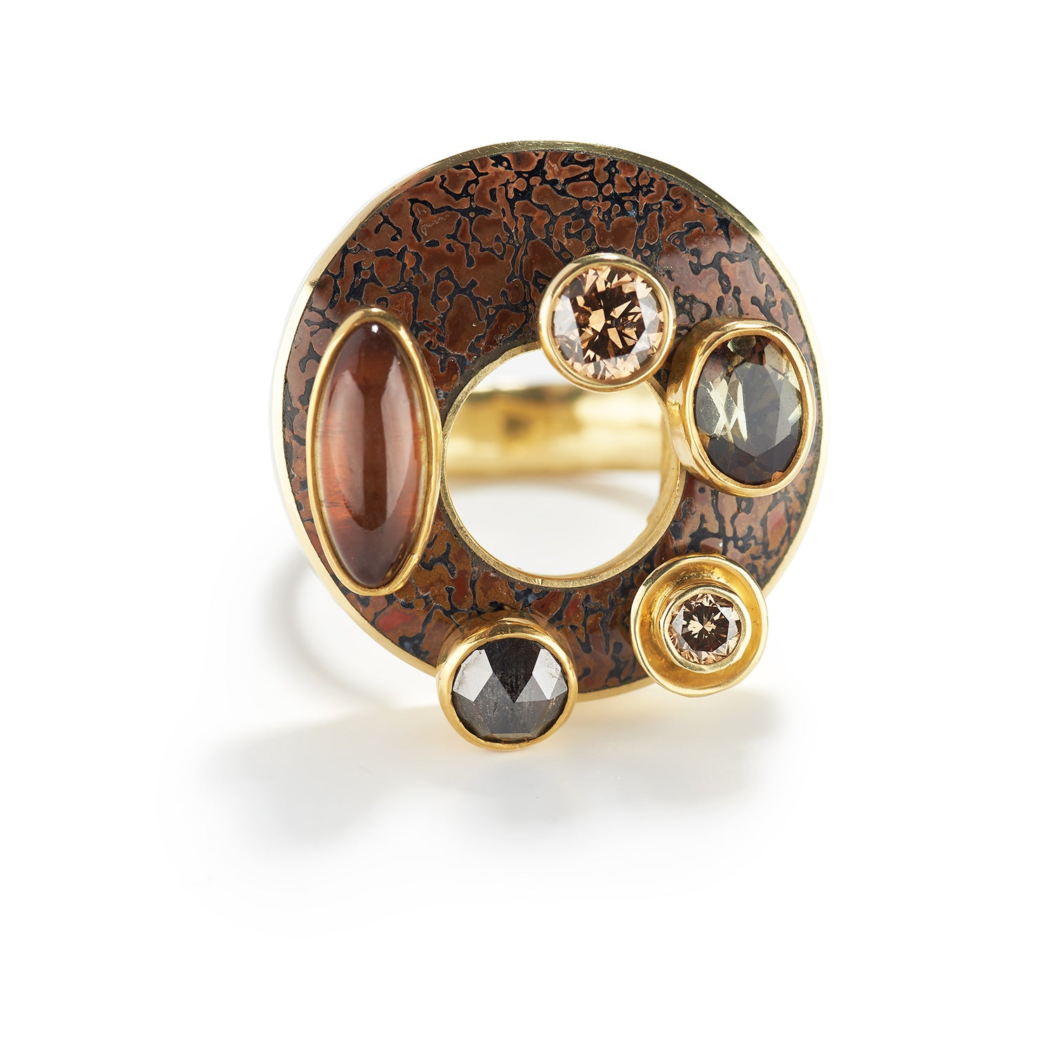 Gold and Brown Ring