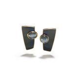 Stud Earrings in Labradorite