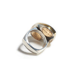 Ring in Silver, Gold, Labradorite & Beryl