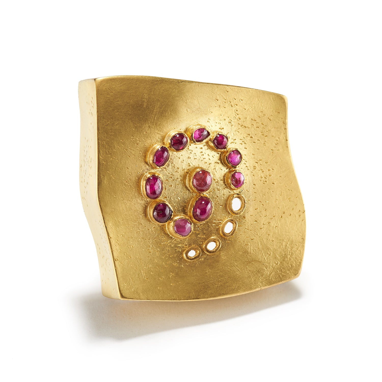 Spinel and Gold Brooch
