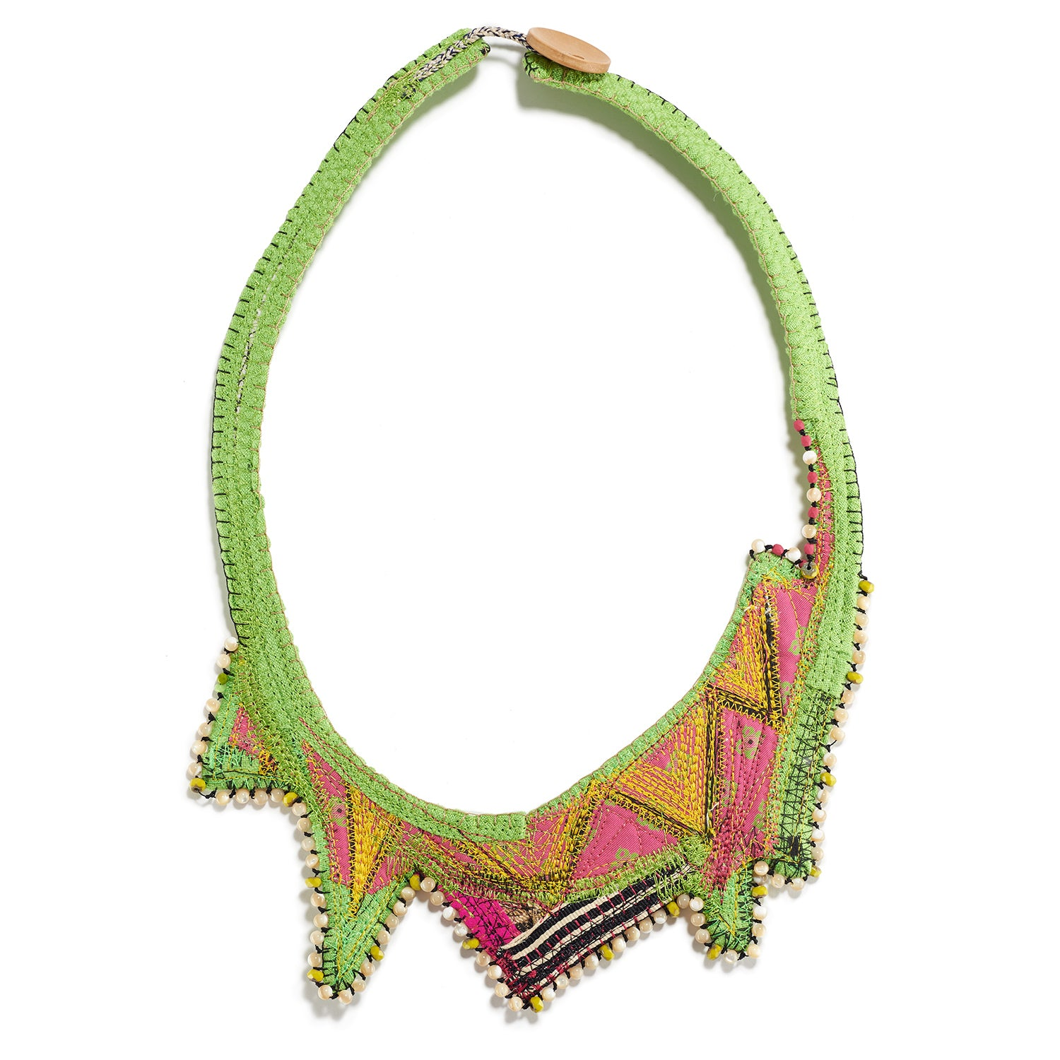 Lime Zigzag Necklace
