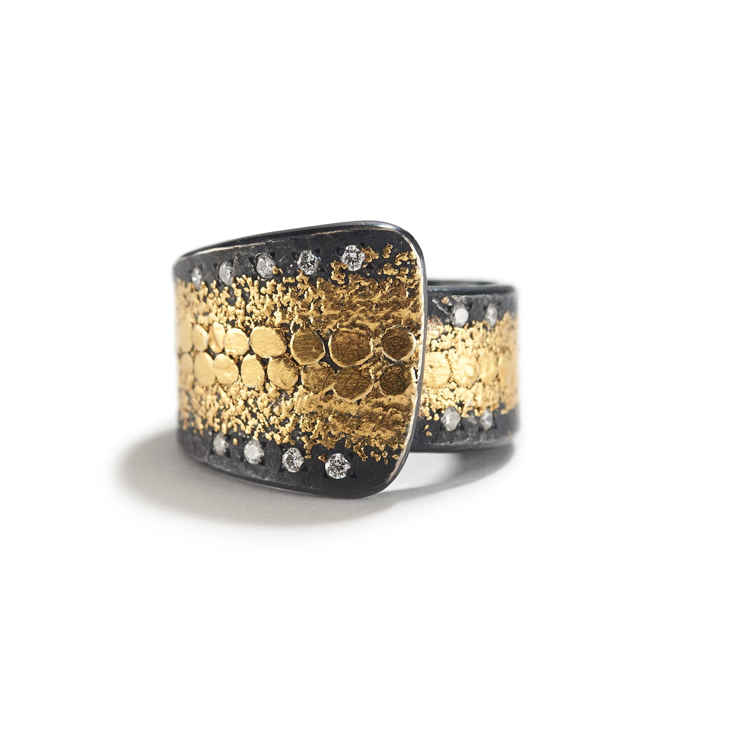 Diamond & Gold Speckles Wrap Ring