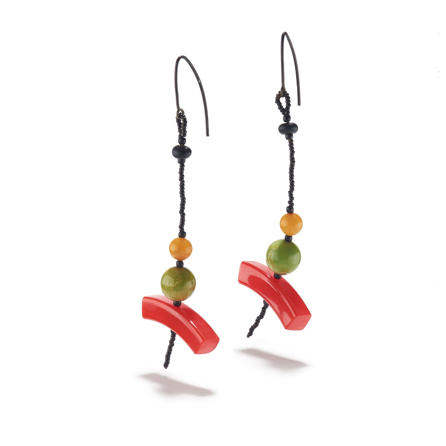 Red, Green & Yellow Earrings