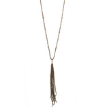 Tassel Necklace with Pyrite and Andalusite