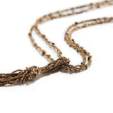Twist & Knot Necklace with Brass, Pyrite & Pearl