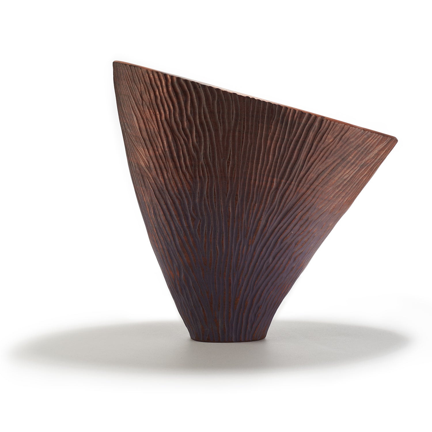 Purple Walnut Arc Vessel