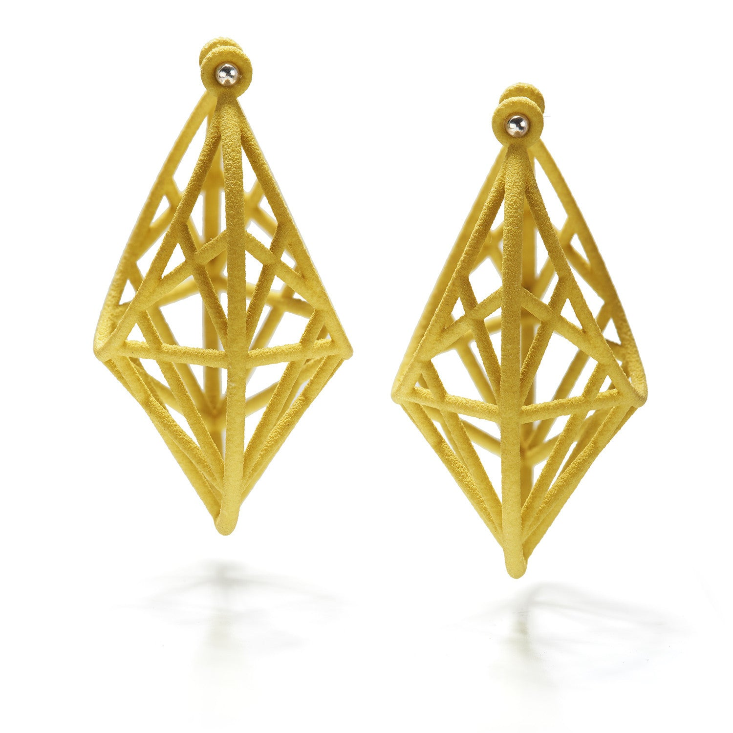 Star Cage Hoops~Green/Yellow