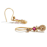 Ruby, Diamond & Gold Dangles