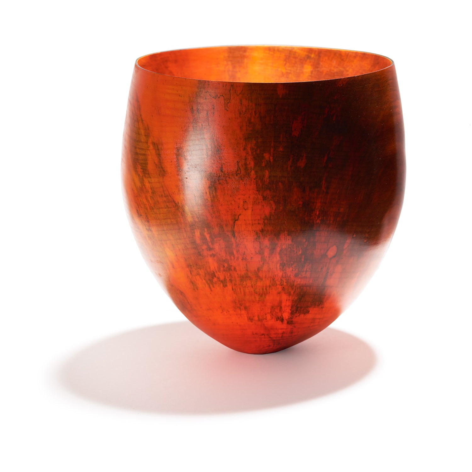 Dark Orange Sycamore Vessel