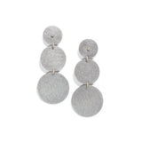 Steel Circle Earrings with Cubic Zirconia