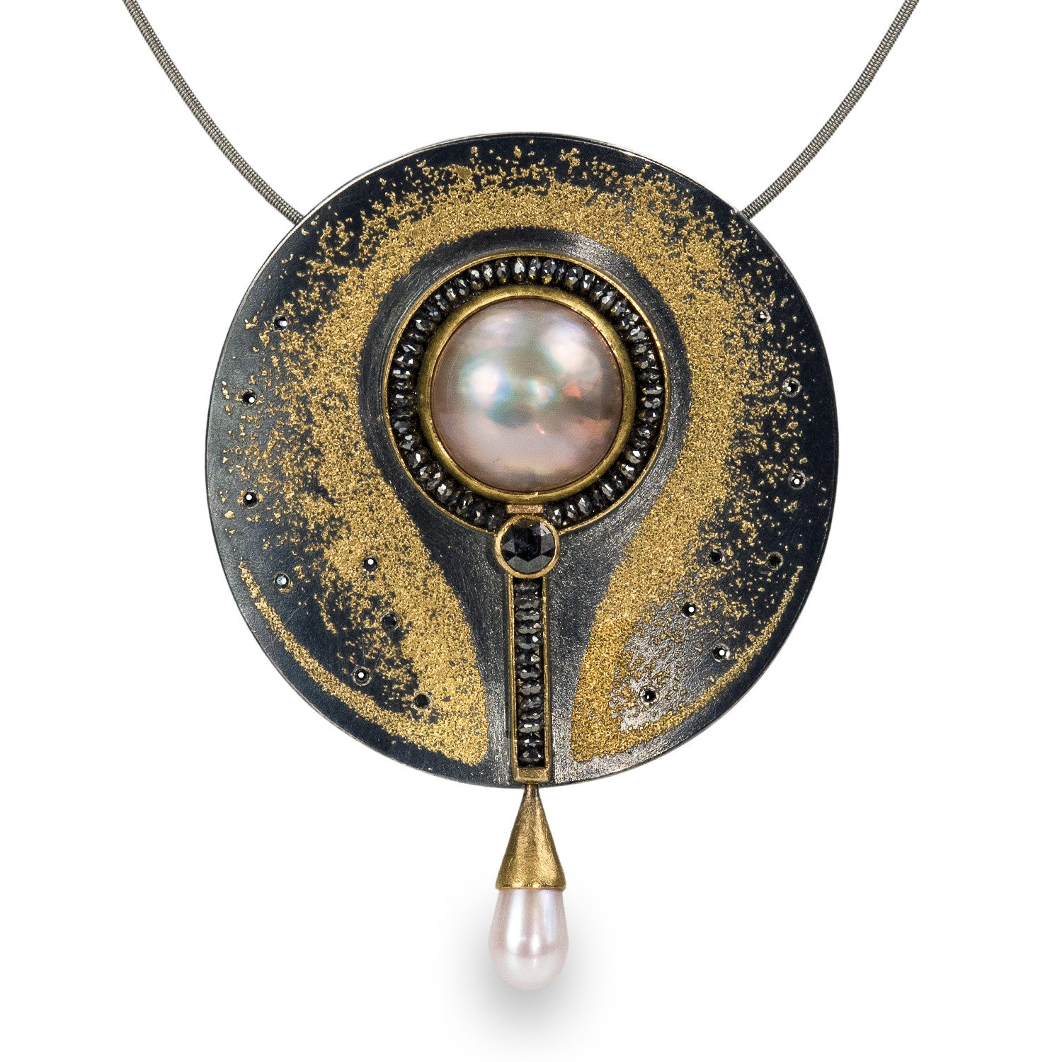 Pearl & Diamond Pendant/Brooch