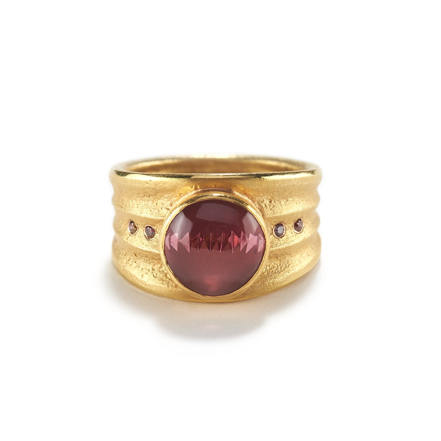Pink Tourmaline Munsteiner Ring