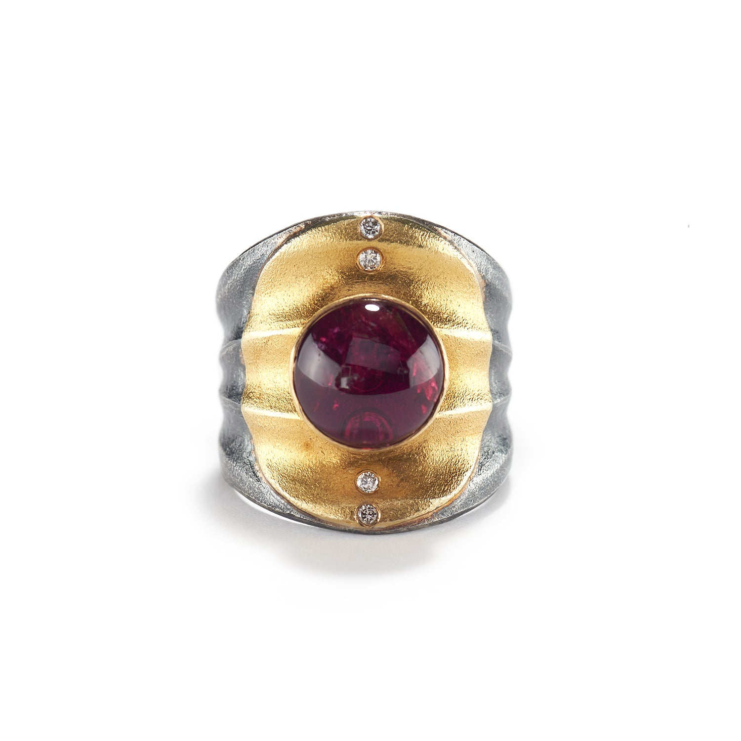 Tourmaline Ripple Ring