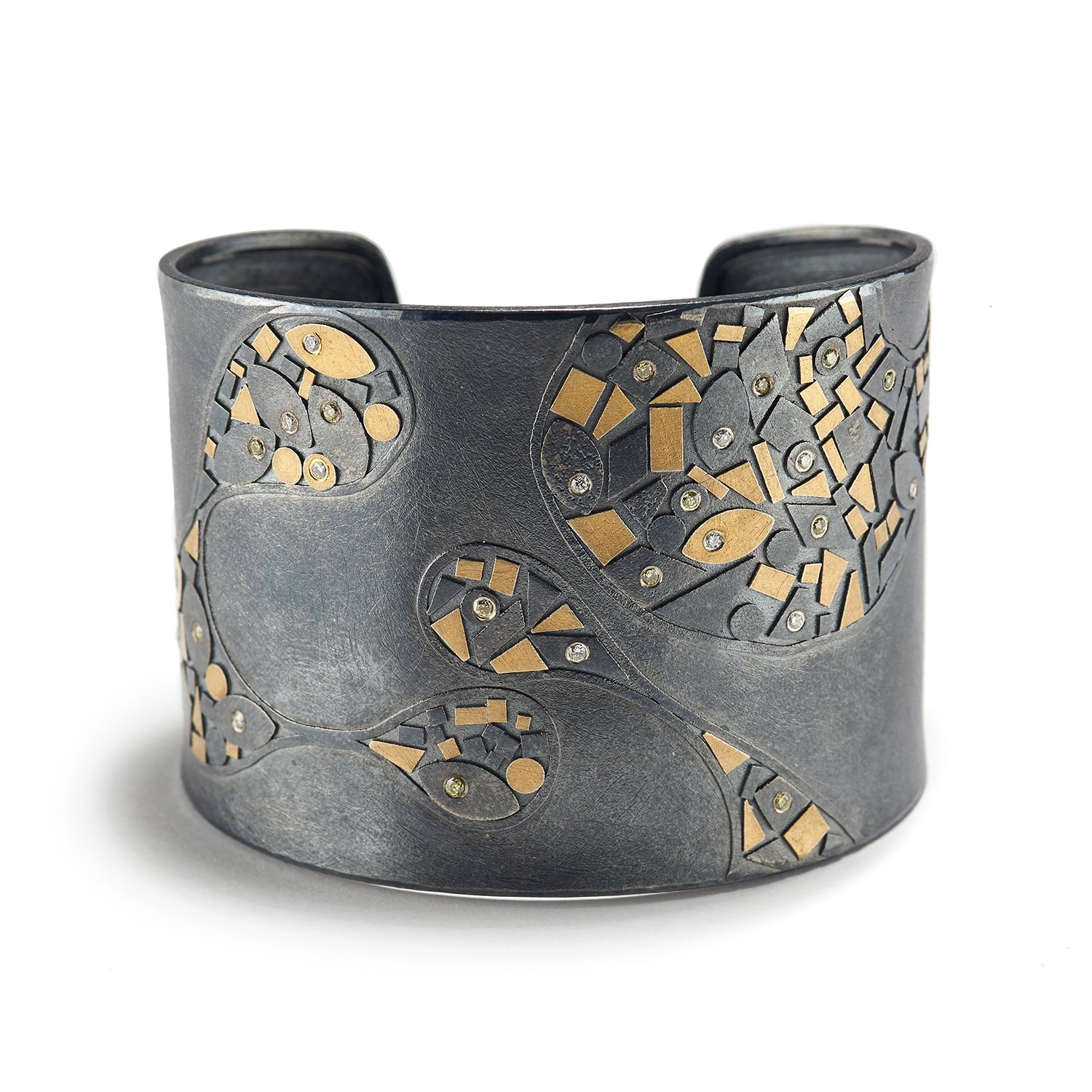 Abstract Metal Mosaic Cuff