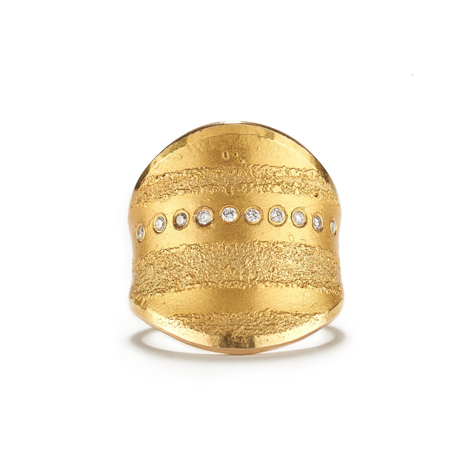 Gold Currents Ring
