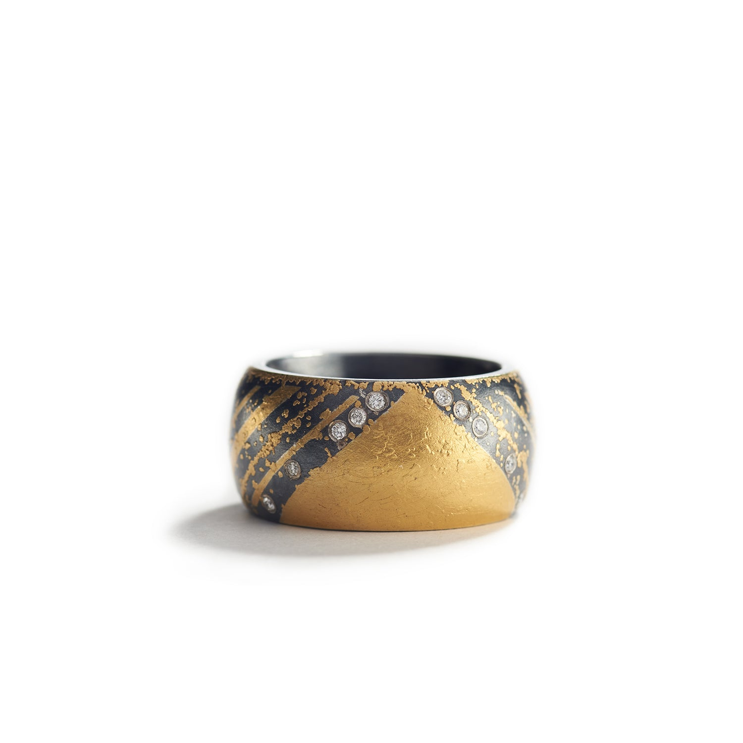 Oxidized Sterling & Gold Ring