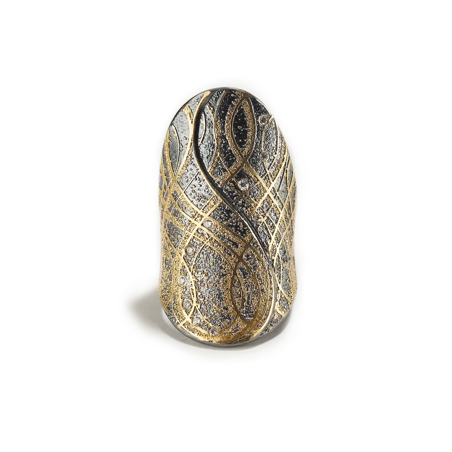 Diamond, Gold & Silver Ring
