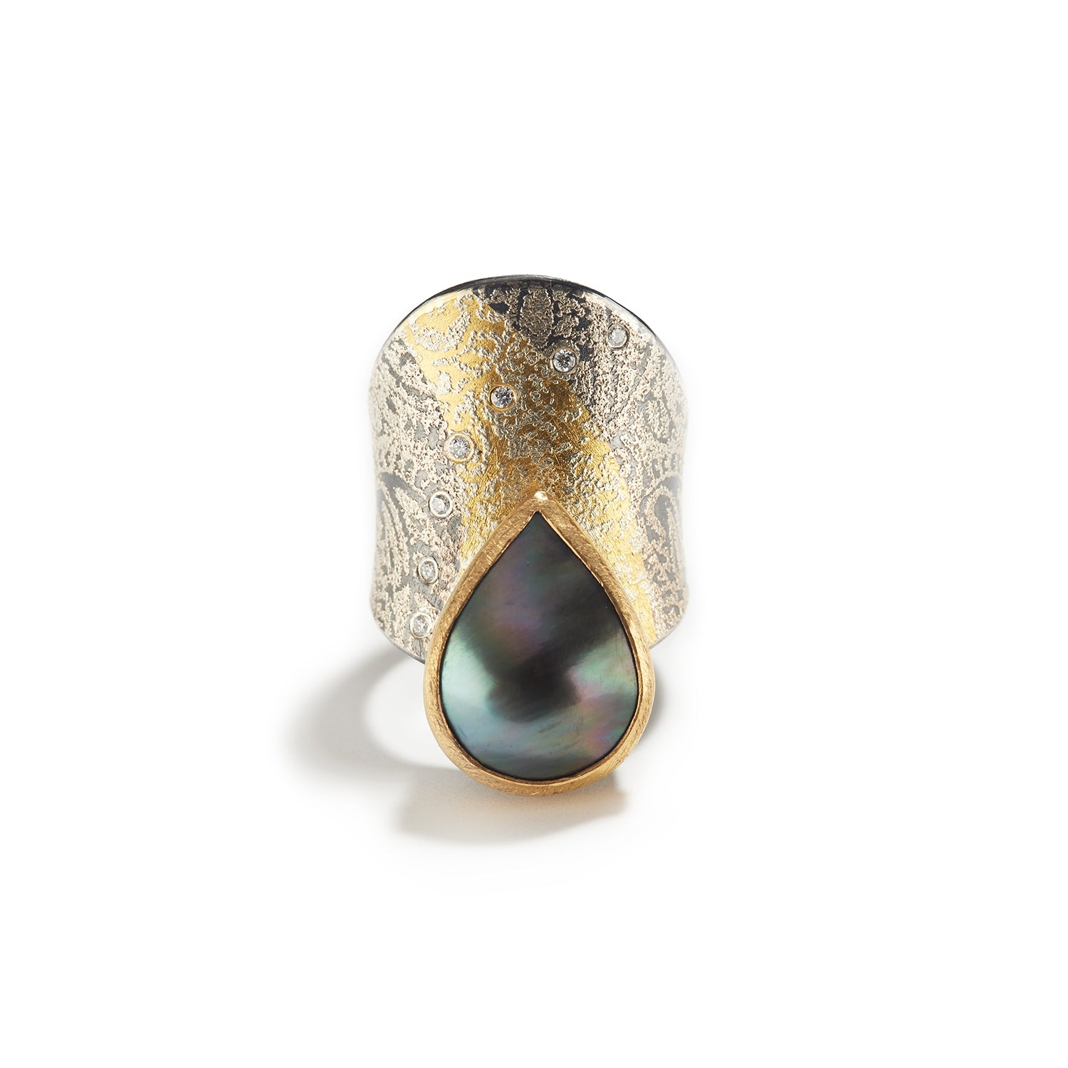 Mabé Pearl & Diamond Ring