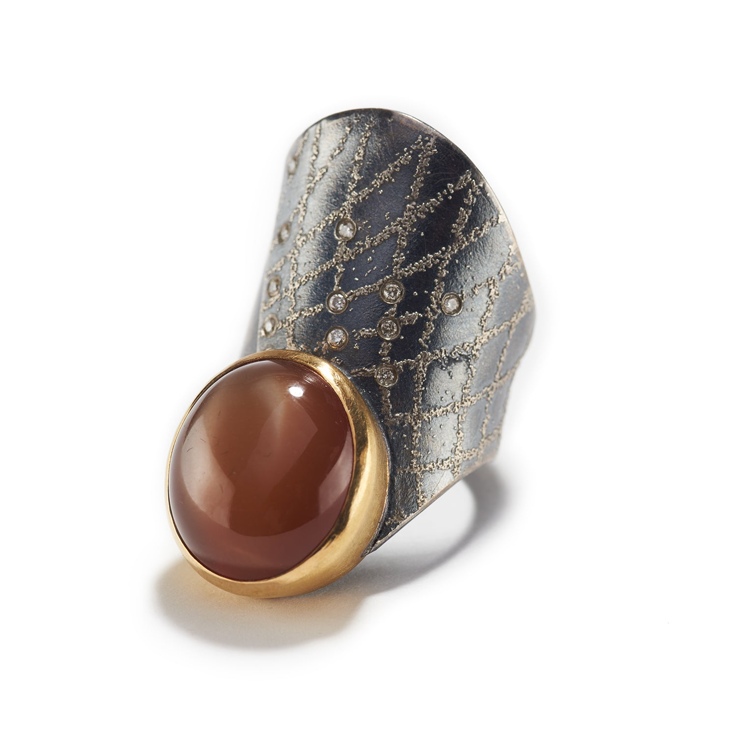 Chocolate Moonstone Ring