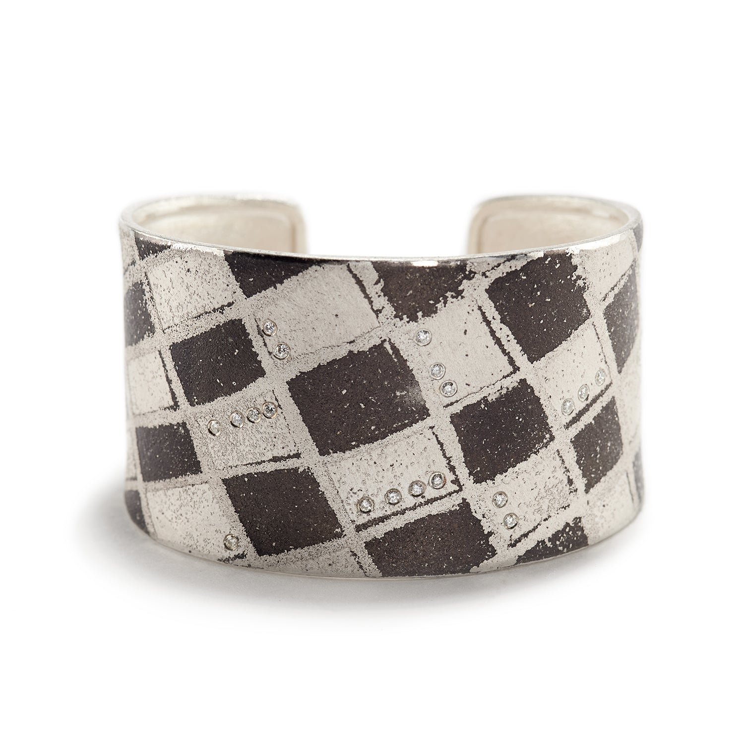 Palladium, Diamond & Silver Cuff