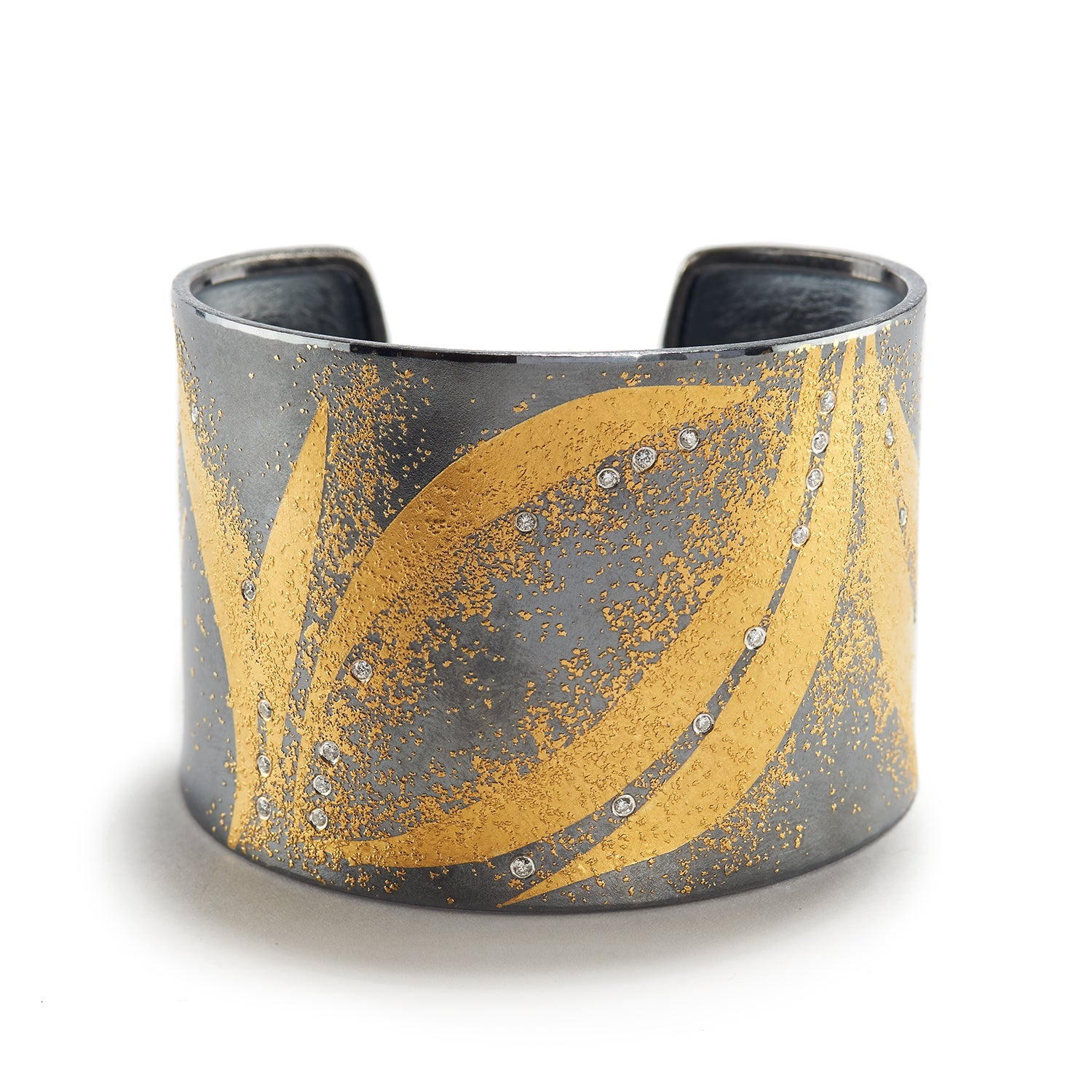 Gold, Diamond & Silver Cuff