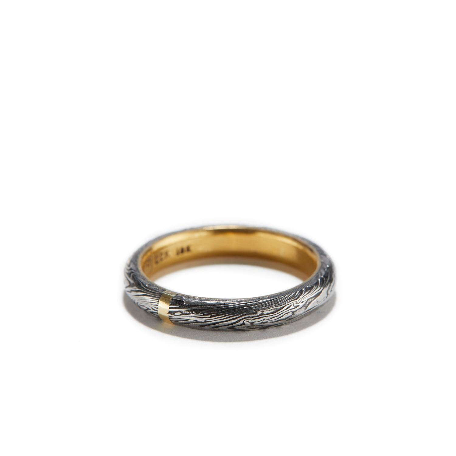 Half Round Ring with Gold~3mm