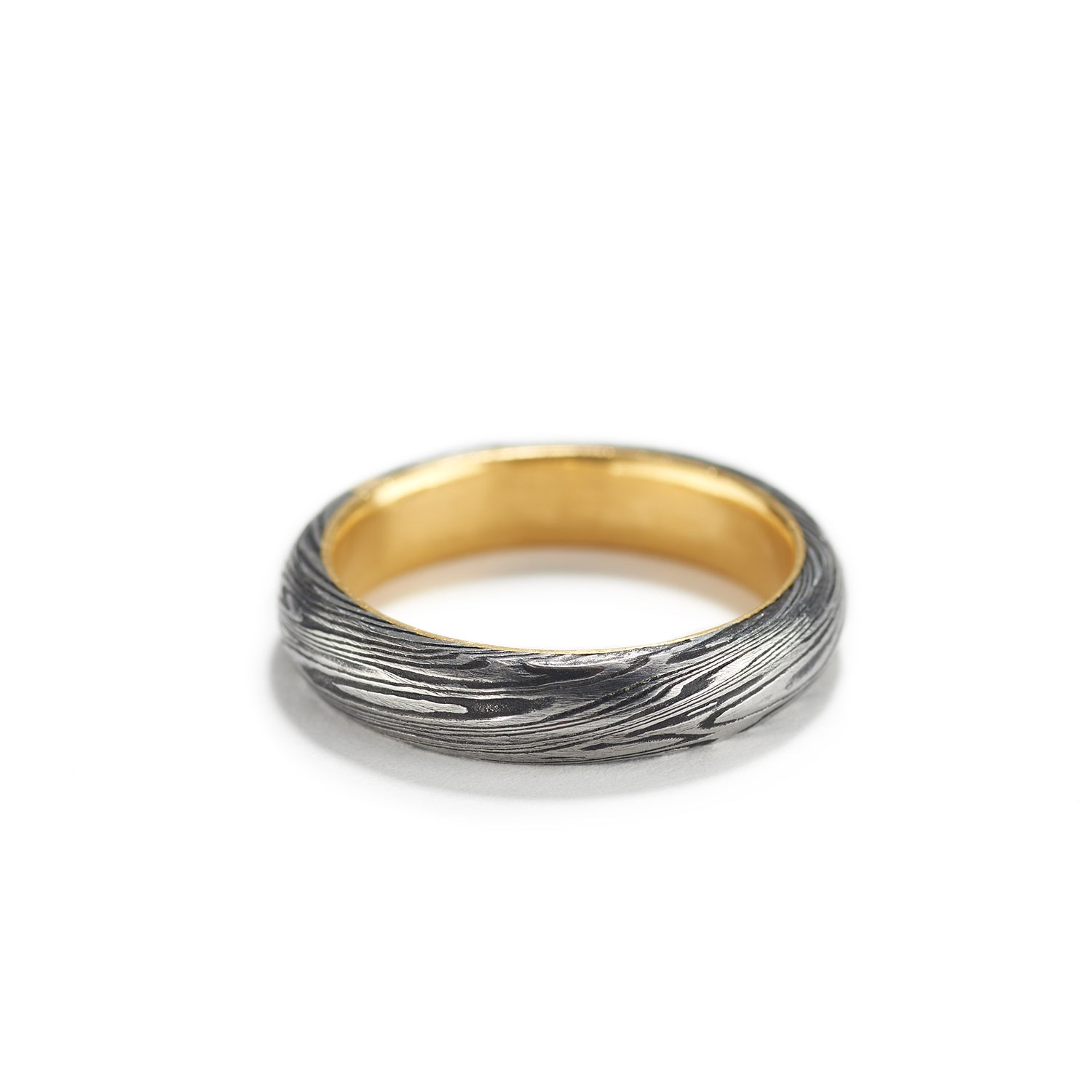 Half Round Ring with Gold~4mm