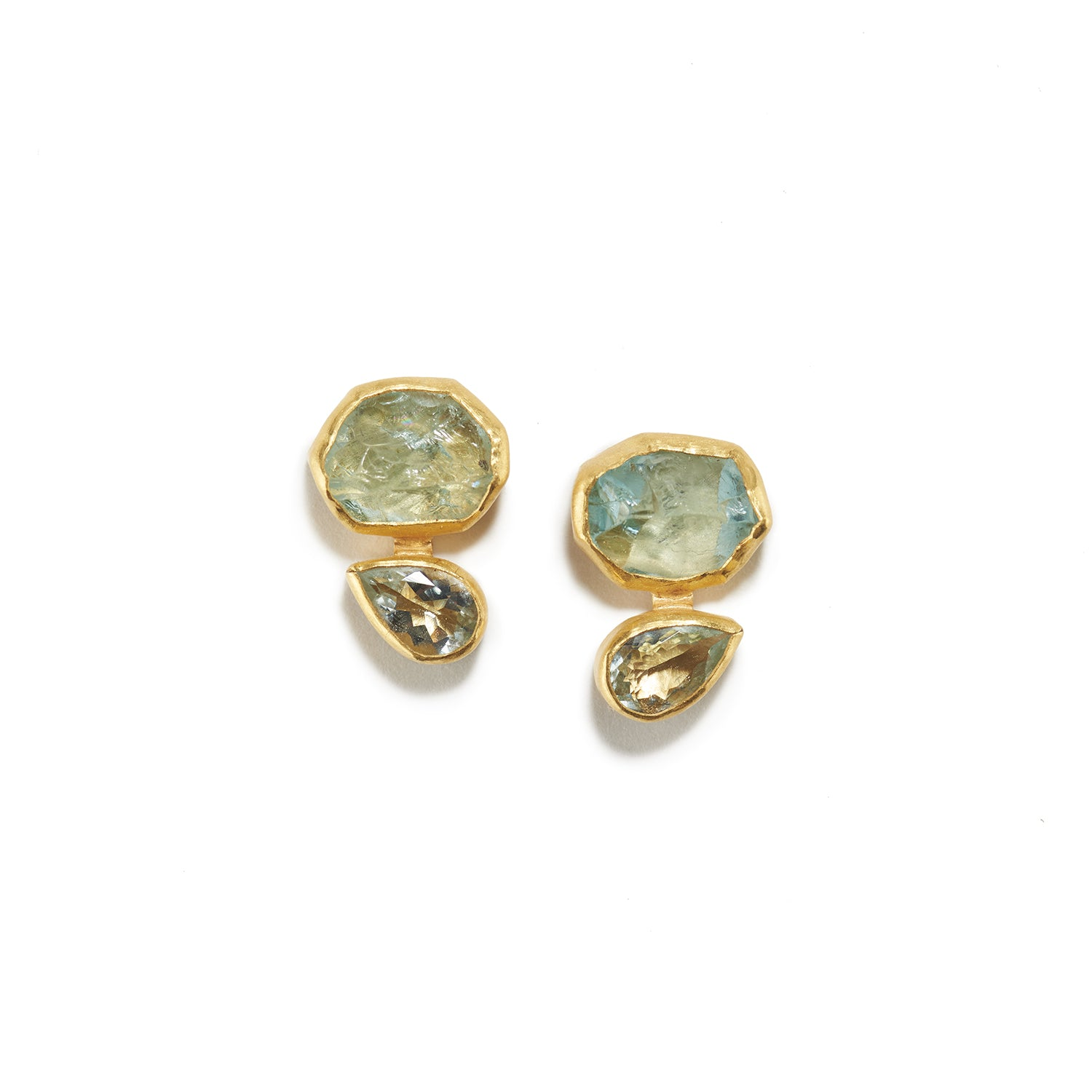 Aqua Crystal Stud Earrings