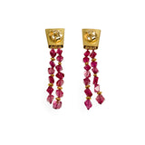 Black Prince Ruby Earrings