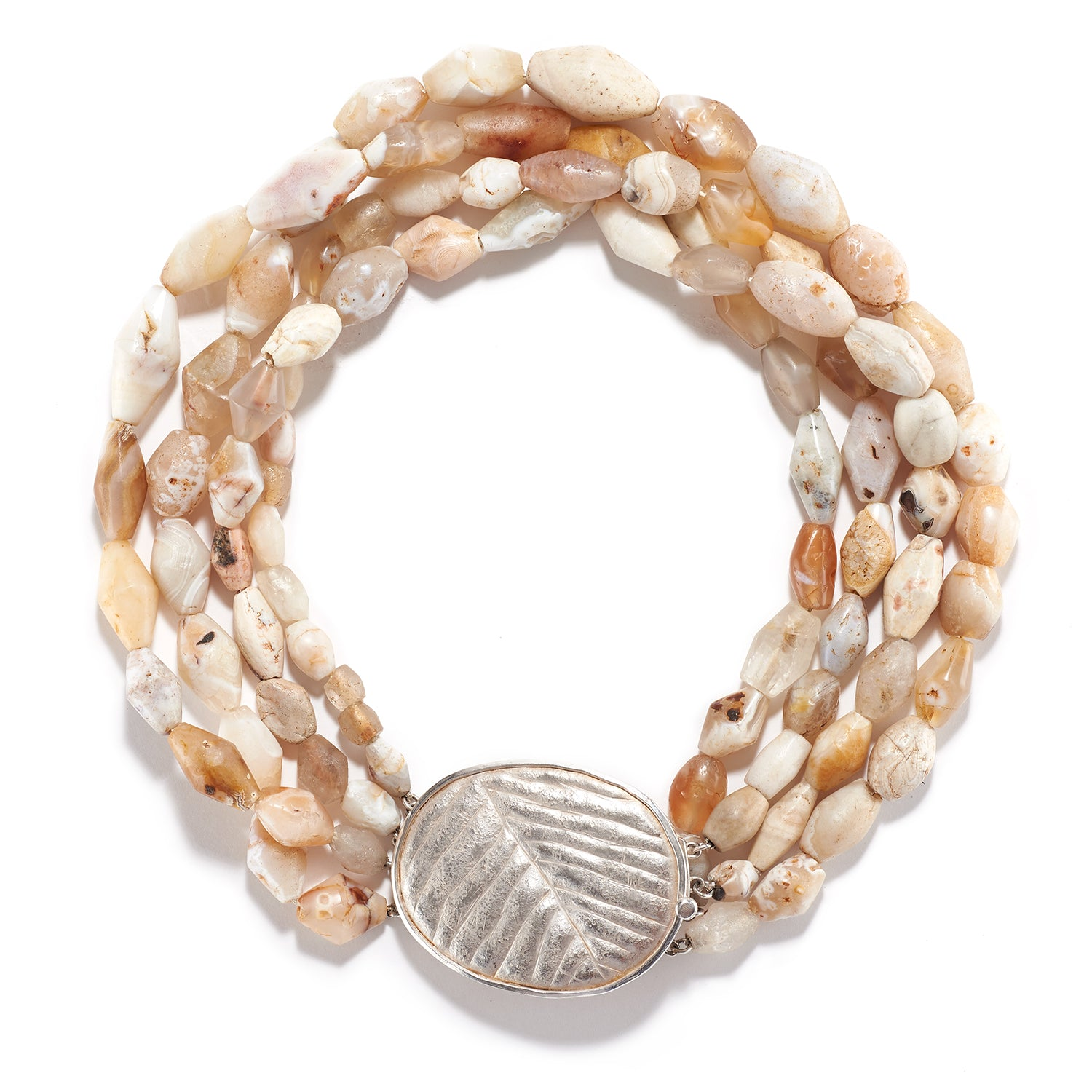 Winter White Agate Necklace