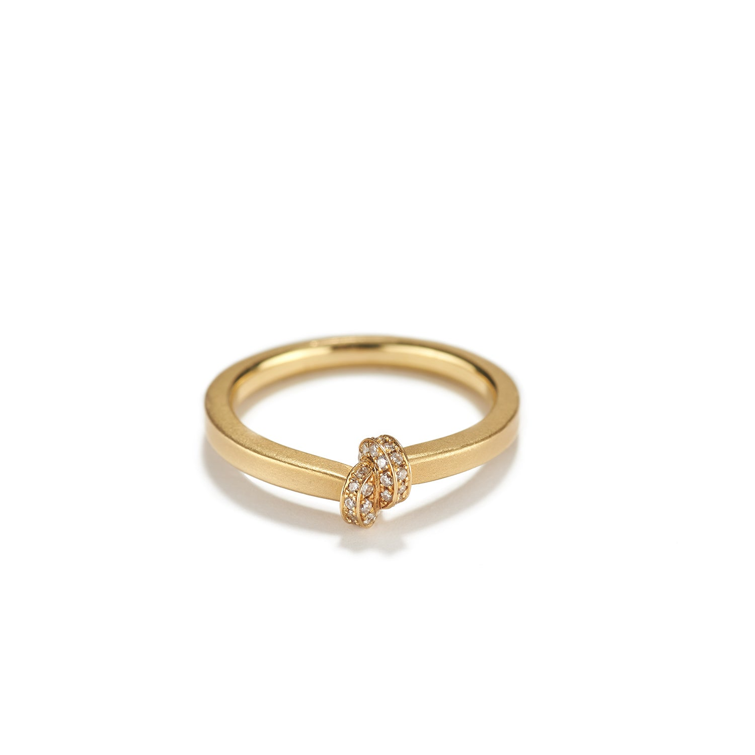 Gold with Diamond Knot Ring