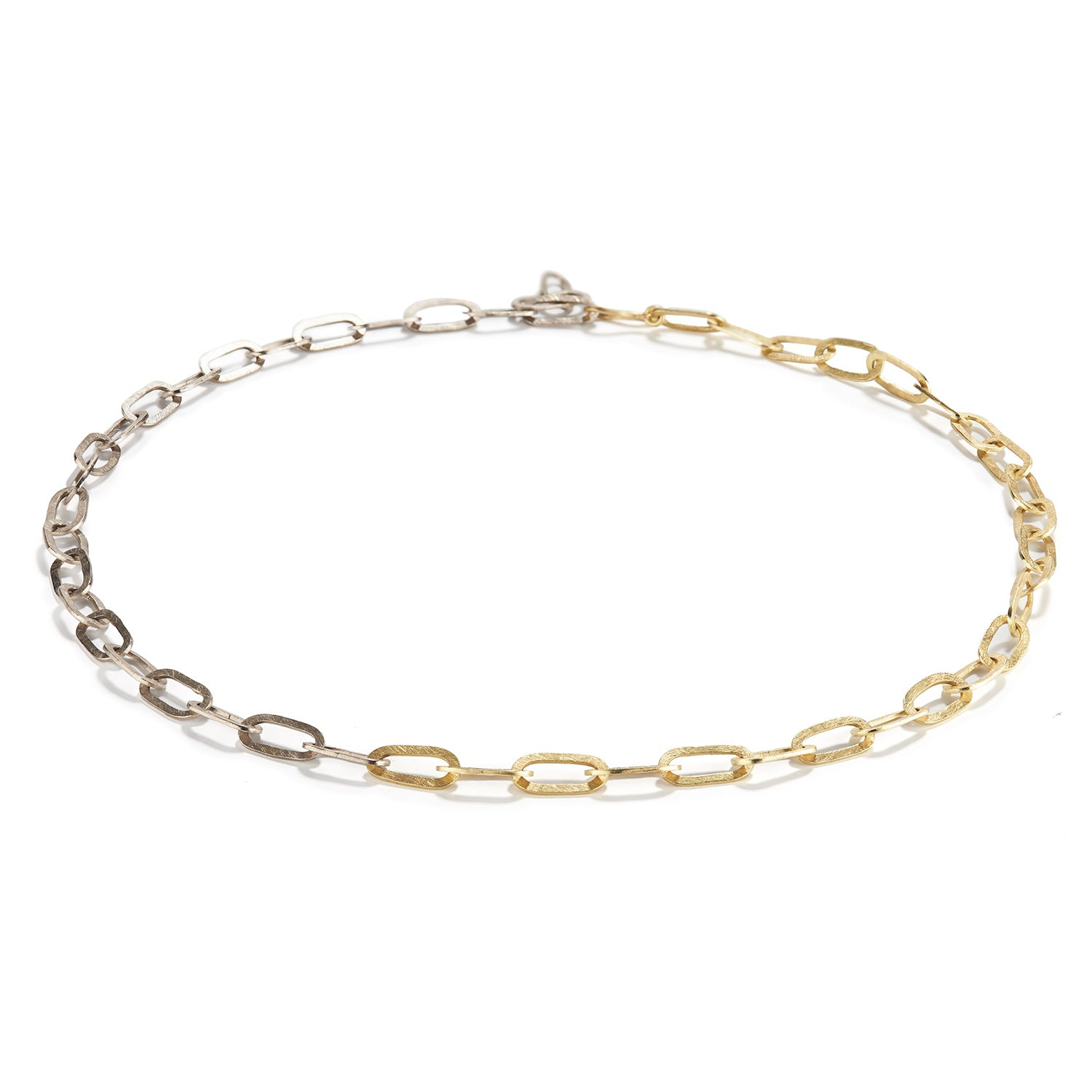 Handmade White and Yellow Gold Chain
