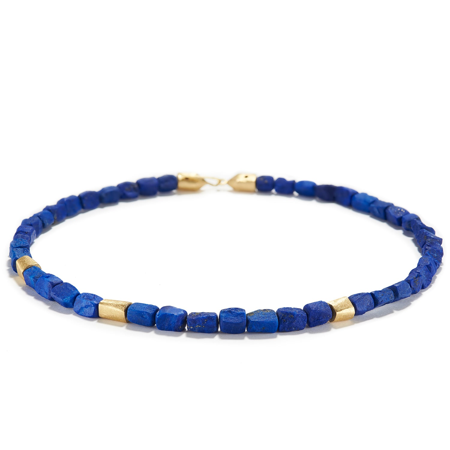 Rough Lapis and Gold Necklace