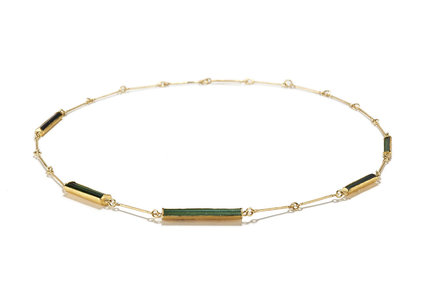 Five Tourmaline Crystal Necklace