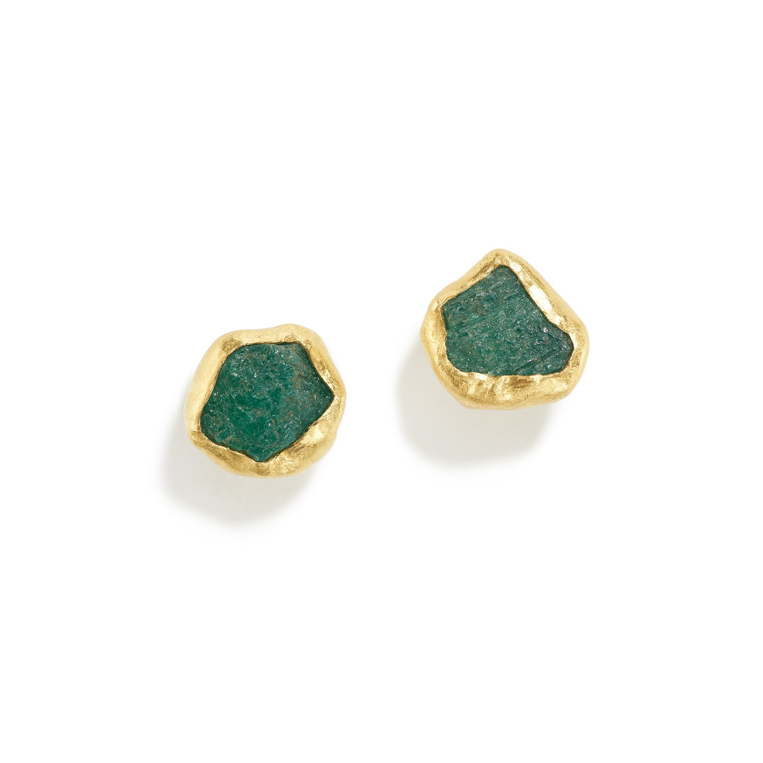 Rough Emerald Stud Earrings