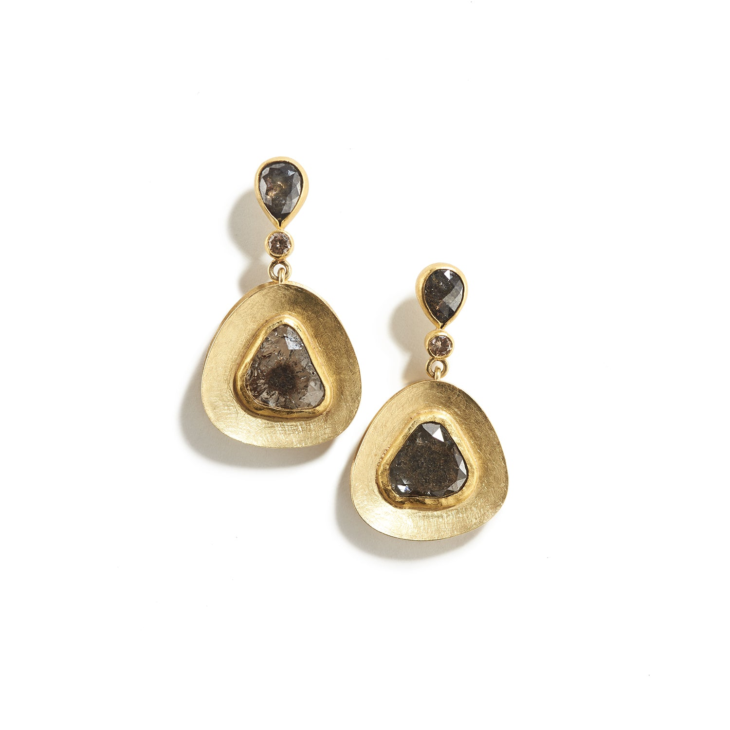 Diamond Slice Window Earrings