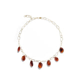 Cognac Amber Pebble Necklace