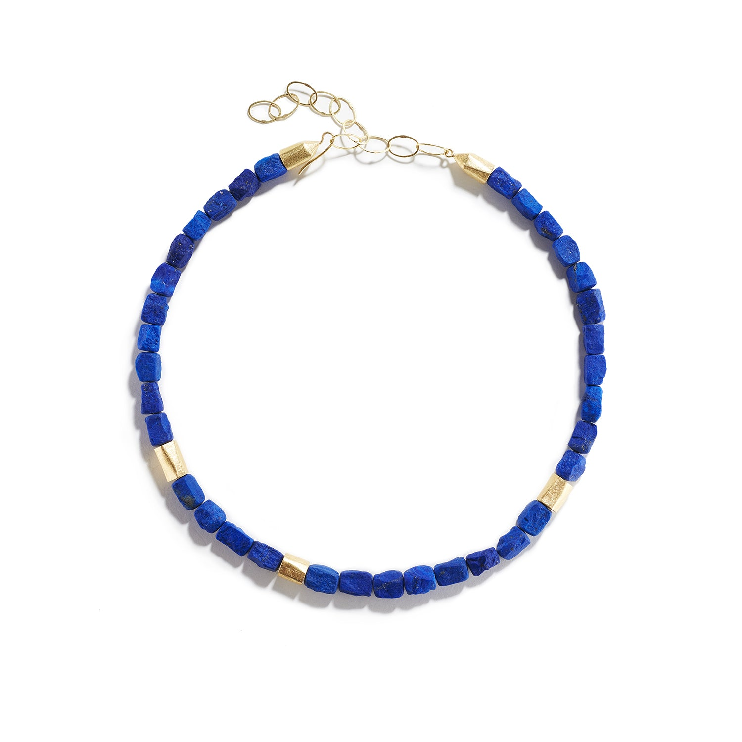 Large Lapis Beaded Necklace
