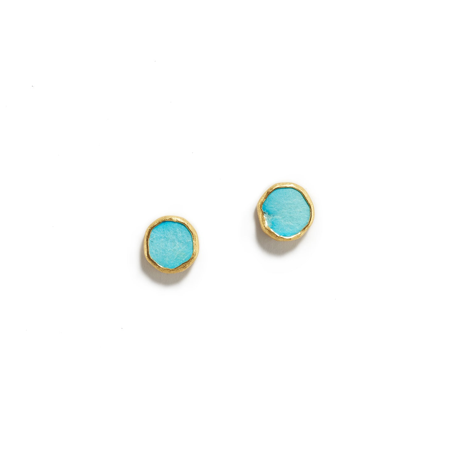 Bright Rough Turquoise Studs
